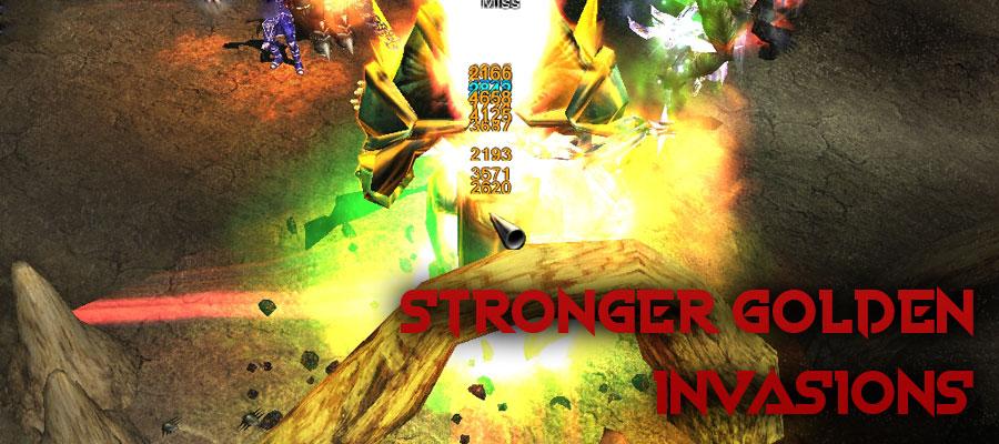 Stronger golden invasions